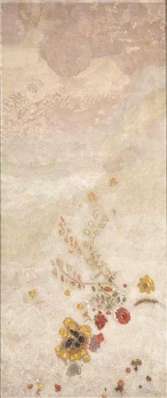 Odilon Redon Décoration Domecy : grand panneau à décor végétal