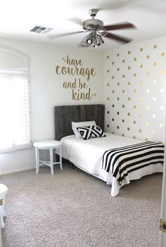 surprise teen girl s bedroom makeover on wall stickers for bedroom id=57678