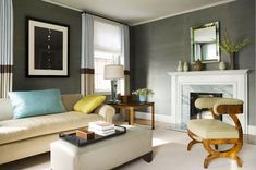 grey wall living room interior