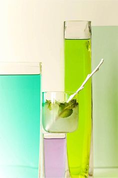 plenty of  colour - Great styling by BHLDN for a feature on signature cocktail recipes.