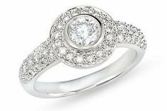 1 Carat Diamond 14K White Gold Bridal Engagement Ring