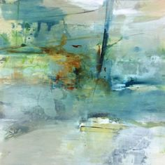 Contemporary Abstract Landscape Art Painting Nebulous Evolution by Intuitive Artist Joan Fullerton -- Joan Fullerton