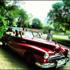 Attention Groom! How about arriving in a royal vintage car for your baraat?