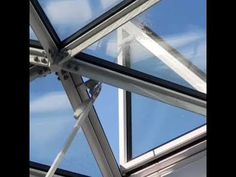 Triangle skylight window. VikingDome - YouTube Triangle Window, Tesla Patents, Skylight Window, Geodesic Dome Homes, Dome House, Conservatory, Facade, Windows, Architecture