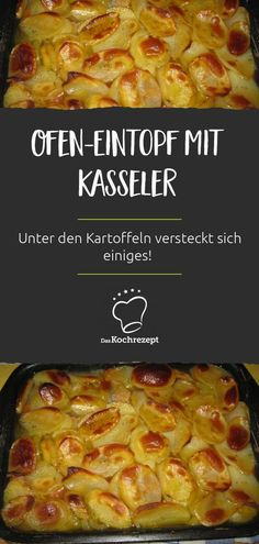 Kasseler Ofen-Eintopf Kasseler oven stew tastes deliciously spicy, because there are a lot of hidden potatoes! Another plus: The preparation is soooo practical. Turkey Recipes, Meat Recipes, Fall Recipes, Pasta Recipes, Mexican Food Recipes, Appetizer Recipes, Crockpot Recipes, Chicken Recipes, Dinner Recipes