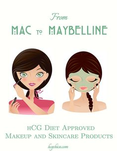 lotion, skincare, beauty products, makeup products safe to use on the hCG Diet- brands you already own.