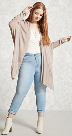 Plus Size Dolman Cardigan - Plus Size - New Arrivals - 2000226436 - Forever 21 Canada English Curvy Outfits, Plus Size Outfits, Cool Outfits, Short Sleeve Cardigan, Long Sleeve Tops, Knit Cardigan, Summer Weekend Outfit, Black Lace Midi Dress, Trendy Plus Size Fashion