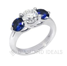Engagement Ring Diamond And Sapphire 46