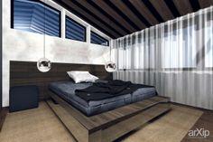 Спальня в гостевом доме: архитектура, интерьер, 2 эт | 6м, жилье, модернизм, 0 - 100 м2, фасад - кирпич, коттедж, особняк, квартира, дом, спальня, современный, модернизм, стена, 30 - 50 м2 #architecture #interiordesign #2fl_6m #housing #modernism #0_100m2 #facade_brick #cottage #mansion #apartment #house #bedroom #dormitory #bedchamber #dorm #roost #modern #wall #30_50m2 arXip.com
