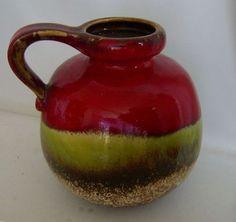 Scheurich Fat Lava Vase pitcher vintage W.Germany