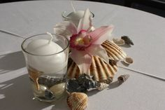 Karibisches Flair - Mini center piece for small tables caribbean style