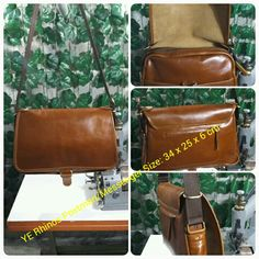 Postman/Messenger size 34 x 25 x 6 cm type leather Pull Up Vintage by YE Rhinos ...Made to the order ready  shipment so how next PO?