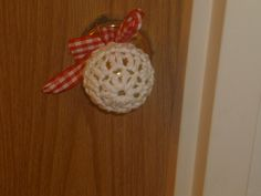 Crocheted door knob cover