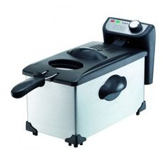 Friggitrice Trisa 7416 - Capacità di 3 litri di olio, per friggere fino a 800g fritto, con potenza 2200 W.