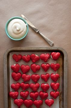 Sweet Treats: food, photography, life: Heart Shaped Red Velvet Macarons with Cream Cheese Filling