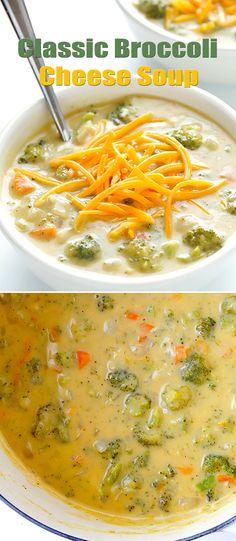 Classic Broccoli Cheese Soup
