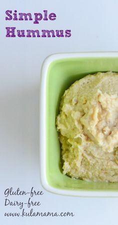 Simple Hummus (Gluten-free, Dairy-free) - Kula Mama