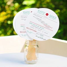Exclusively Weddings | DIY Circle Fan Program Kit