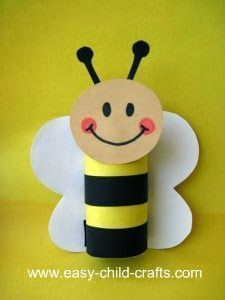 Toilet Paper Roll Crafts - Get creative! These toilet paper roll crafts are a great way to reuse these often forgotten paper products. You can use toilet paper Daycare Crafts, Bee Crafts, Easy Crafts For Kids, Craft Activities For Kids, Summer Crafts, Toddler Crafts, Crafts To Do, Preschool Crafts, Projects For Kids