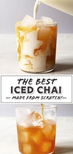 The best iced chai latte is the one made at home, from scratch. Sweet, spicy, and milky, my iced chai latte recipe is one you'll make over and over again. Chia Tea Recipe, Best Chai Tea Recipe, Iced Chai Latte Recipe, Iced Chai Tea Latte, Te Chai, Vanilla Coffee Creamer, Iced Black Tea Recipe, Chai Recipe, Iced Coffee