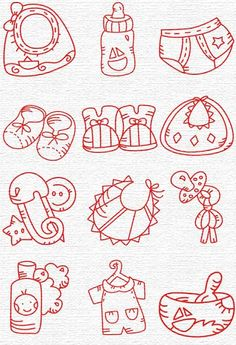 Free Embroidery Designs, Sweet Embroidery, Designs Index Page for baby bibs tshirts etc
