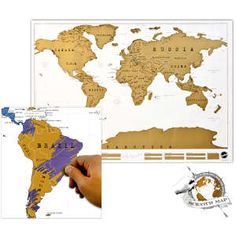 Weltkarte zum frei Rubbeln, Scratch Map