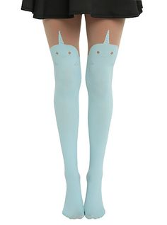 Thigh-High Tights With Narwhals, Alpacas And Disney Villains