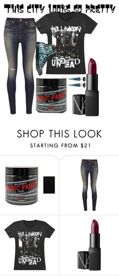 """Untitled #160"" by awesome-lyk-that ❤ liked on Polyvore featuring Manic Panic, rag & bone, NARS Cosmetics and Converse"