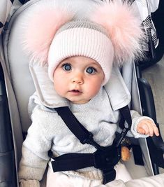 Babies in beanies | cute baby clothes stores | trendy baby clothes | cute newborn girl outfits Newborn Girl Outfits, Toddler Girl Outfits, Cute Baby Outfits, Cute Little Baby, Lil Baby, Little Babies, Baby Kids, Baby Girl Winter, Winter Newborn