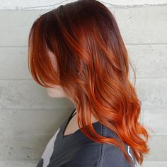 copper colormelt. balayage. ombre. orange hair. @shurie