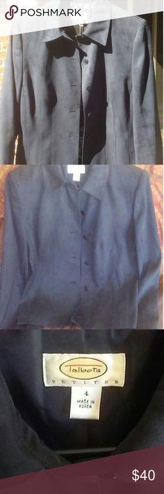 Talbots Faux Suede Blazer Talbots Faux Suede Blazer. Like new. Tapered tucks slim the waist. Super soft. Talbots Jackets & Coats Blazers