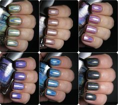 Polish Etc.: Color Club Holo Hues 2013 Swatches and Comparisons!--I just ordered the copper one (Cosmic Fate)!