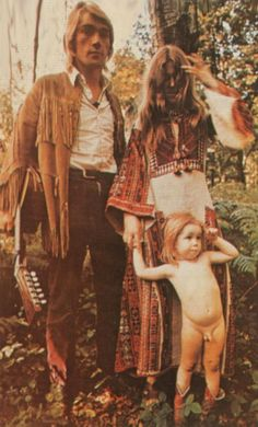1960s-1970s counterculture parents. turn on, tune in, and drop out- a generation of parents who went off the grid to raise their children on communes and/or in much less traditional environments. hippy parents and families