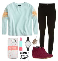 """""""Fall"""" by kaitlynbug1226 ❤ liked on Polyvore featuring J.Crew, Paige Denim, TOMS, Casetify, Rimmel, Olivia Burton and Essie"""