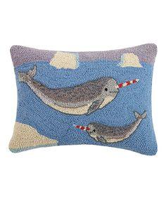 Peking Handicraft Narwhal Throw Pillow   zulily