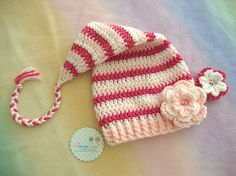 this hat is adorable... no pattern here, but great color inspiration!