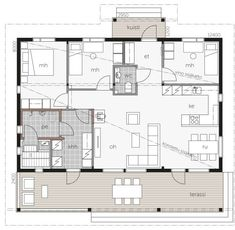 My Dream Home, Future House, Interior Architecture, House Plans, Sweet Home, New Homes, Floor Plans, Cottage, How To Plan