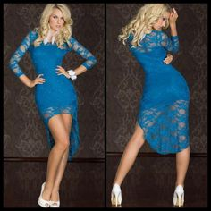 Fancy Dress with Lace Train in blue  Item No. : DP2061-3  Price : $47.99  Size S/M only available.  To purchase today, please email us & include the following:   1)  Full name  2) Email address  3) Mailing address  4) Phone number   5) Item number(s) OR picture(s) AND size(s) of the item(s) you wish to order  6) Form of payment (etransfer or PayPal accepted. www.paypal.com)  Email to: dieprettyclothing@gmail.com  ~ Die Pretty Clothing Co. www.dieprettyclothingco.com