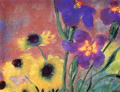 Daisies and Irises~Emil Nolde