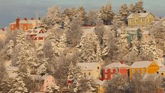 Candy House, Winter Snow, Finland, Cottages, Frost, Eve, Buildings, Houses, Entertaining