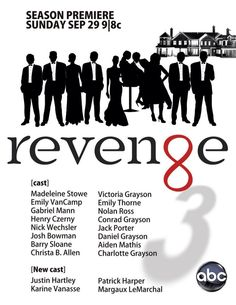 Revenge SOOOO Excited for the new season! Revenge Season 3, Revenge Cast, Revenge Tv Show, True Blood, Ncis, Barry Sloane, New Orleans, Stories Of Forgiveness, Victoria Grayson