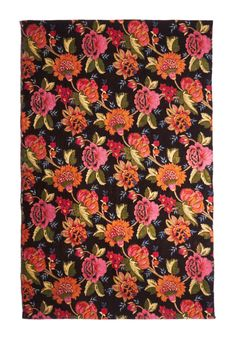 Barefoot Blossoms Rug. Now you can tiptoe through the tulips daily with this lush floral rug by Karma Living as your homes centerpiece. #multi #modcloth
