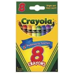 $1.00 | Packs of crayons used as birthday invites | Crayola; 8-Pc. Crayons - OrientalTrading.com