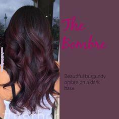 Burgundy Plum Hair Color With A Dark Base - Hairstyles For All Burgundy Plum Hair Color, Purple Hair, Burgundy Hair Highlights, Burgundy Balayage, Dark Red Hair Burgundy, Pastel Hair, Green Hair, Dark Purple, Dark Brown