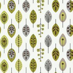 """Bistro 750 33' x 20.5"""" Retro Leaves Wallpaper"""