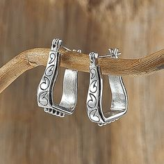 Sterling Stirrup Earring - Horse Themed Gifts, Clothing, Jewelry & Accessories all for Horse Lovers