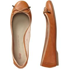 Gap Soft and comfortable genuine leather. Rounded toe. Decorative bow at top with metal tips or knotted ends. Grosgrain ribbon piping encircles foot opening. P…
