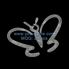 Butterfly Hot Fix Rhinestone Motif Designs For Garments
