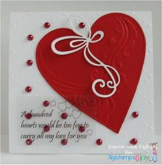 A Hundred Hearts by karin van eijk - Cards and Paper Crafts at Splitcoaststampers