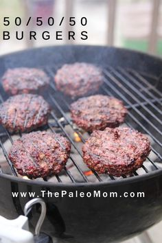 I owe a debt of gratitude to Paleo Parents for the 50/50 Burger.  Their original recipe, featured on their blog and in their first book Eat Like a Dinosaur (read my review here), adds some warm spices to enhance the flavors of bacon and ground beef, formed into a patty and cooked using whatever method you like to …